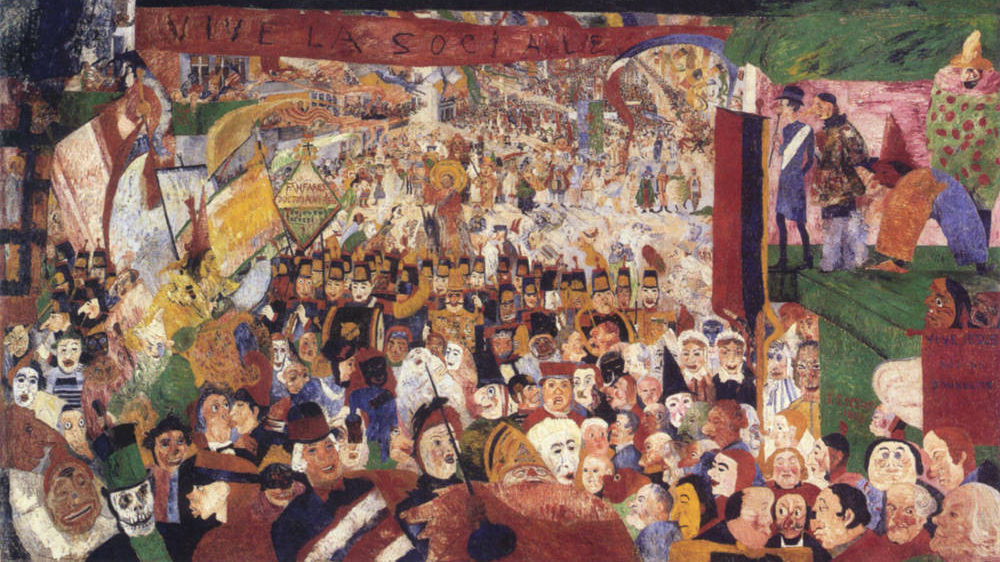 ENSOR James Christus intrede in Brussel 1889