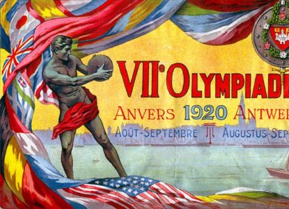 1920 Antwerp Summer Olympic Games Poster