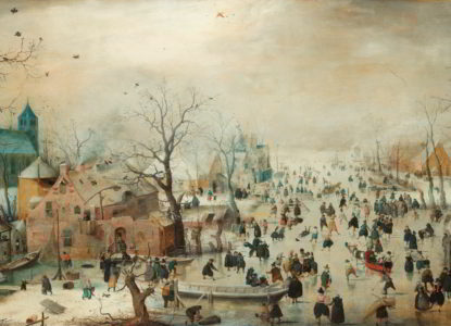 Avercamp Winter Landscape with Ice Skaters 3740x2160