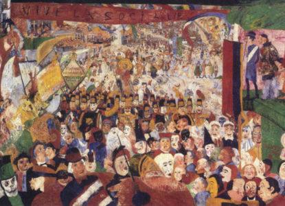 ENSOR James Christus intrede in Brussel 1889