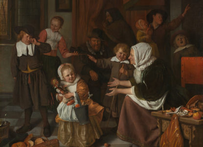 Jan Havicksz Steen Het Sint Nicolaasfeest Google Art Project