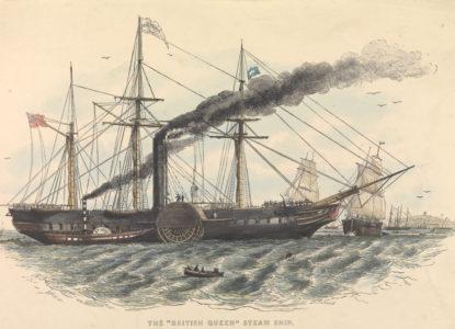 The British Queen steam ship PY0213