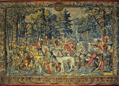 Wandtapijt Jachten van Maximiliaan uit het Louvre c Wikimedia Commons