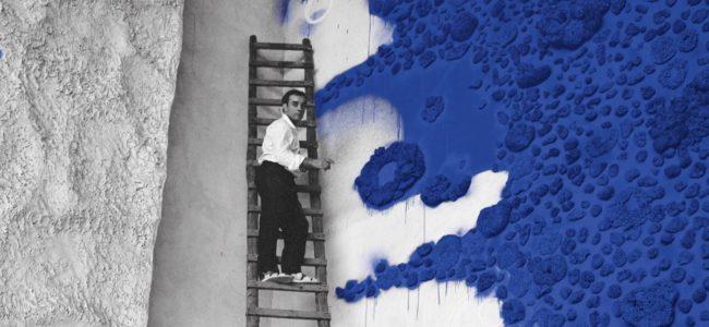 Charles Wilp Yves Klein travaillant à l Opéra Théâtre de Gelsenkirchen 1958 Version PRINT