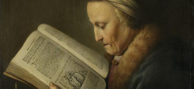 Lezende oude vrouw Rijksmuseum SK A 2627