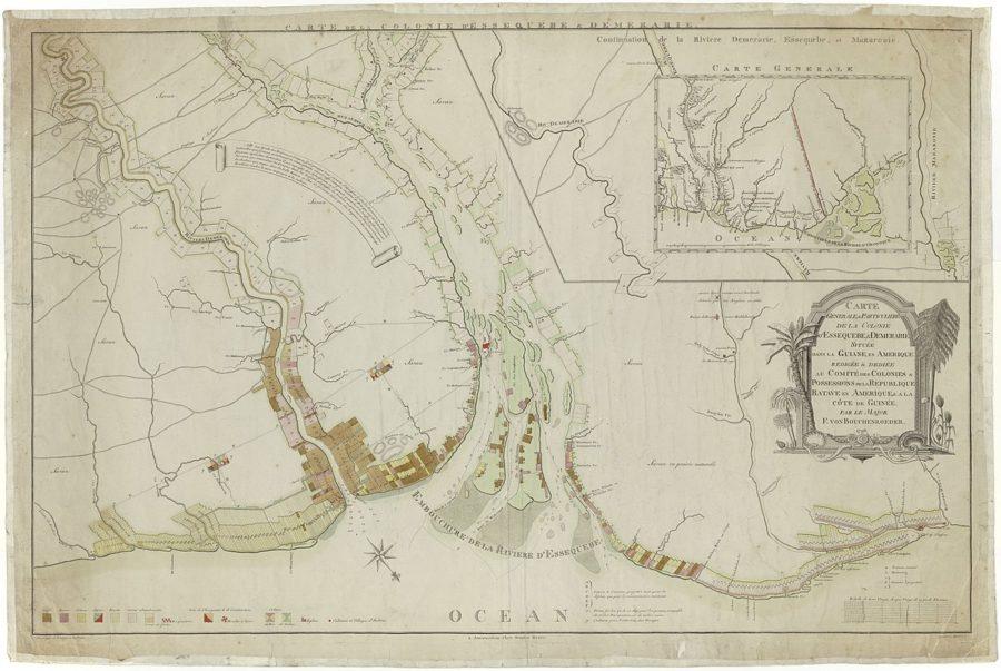 Carte Generale et Particuliere de la Colonie d Essequebe et Demerary située dans la Guiane en Amerique etc